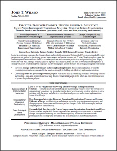 sample bg IT consultant Executive Resumes | Sample Career Documents