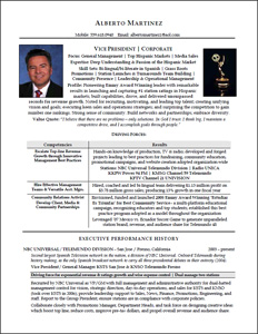 Executive Resume Amp Professional Resume Samples