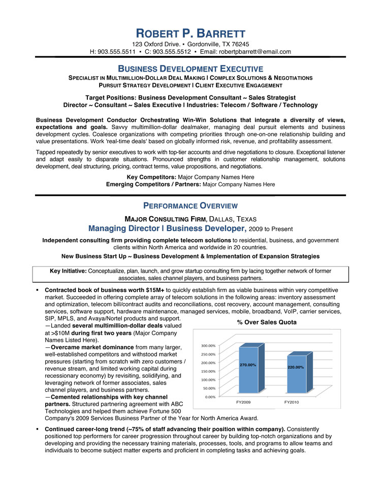 business development executive resume service