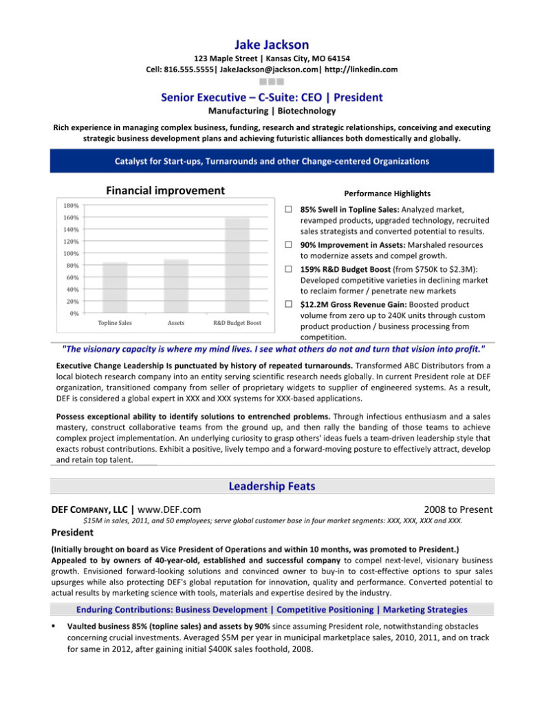 featured sles executive resume writing service