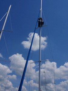 Sailing Spring 2010 Dave at the top of the mast1 225x300 Your Resume: Hoist or Anchor?