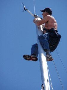 Sailing Spring 2010 Dave working at top of the mast 225x300 Your Resume: Hoist or Anchor?