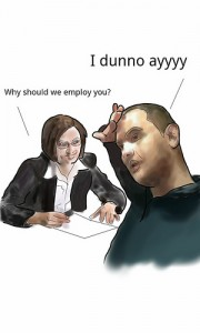 job interview jitters Wisang 180x300 How to Tame Nerves Before a Big Job Interview
