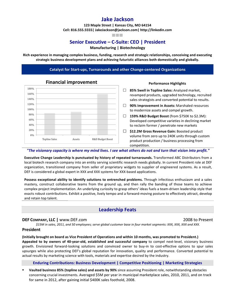Awesome Chief Executive Officer Resume Sample Regard To Executive Resume Writer